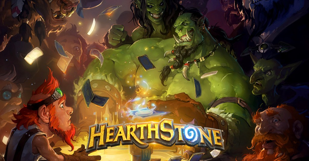 """The new Hearthstone logo sans """"Heroes of Warcraft"""""""
