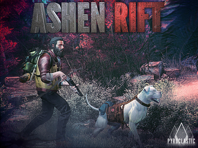 Ashen Rift is a first person shooter in an apocalyptic world that features a man and his loyal dog companion.