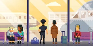 Screenshot of Detective McQueen and Officer Dooley at the airport.