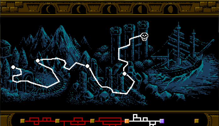 Bloodstained: Curse of the Moon level map