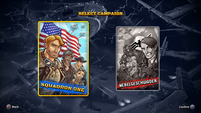 Aces of the Luftwaffe Squadron-teamselection