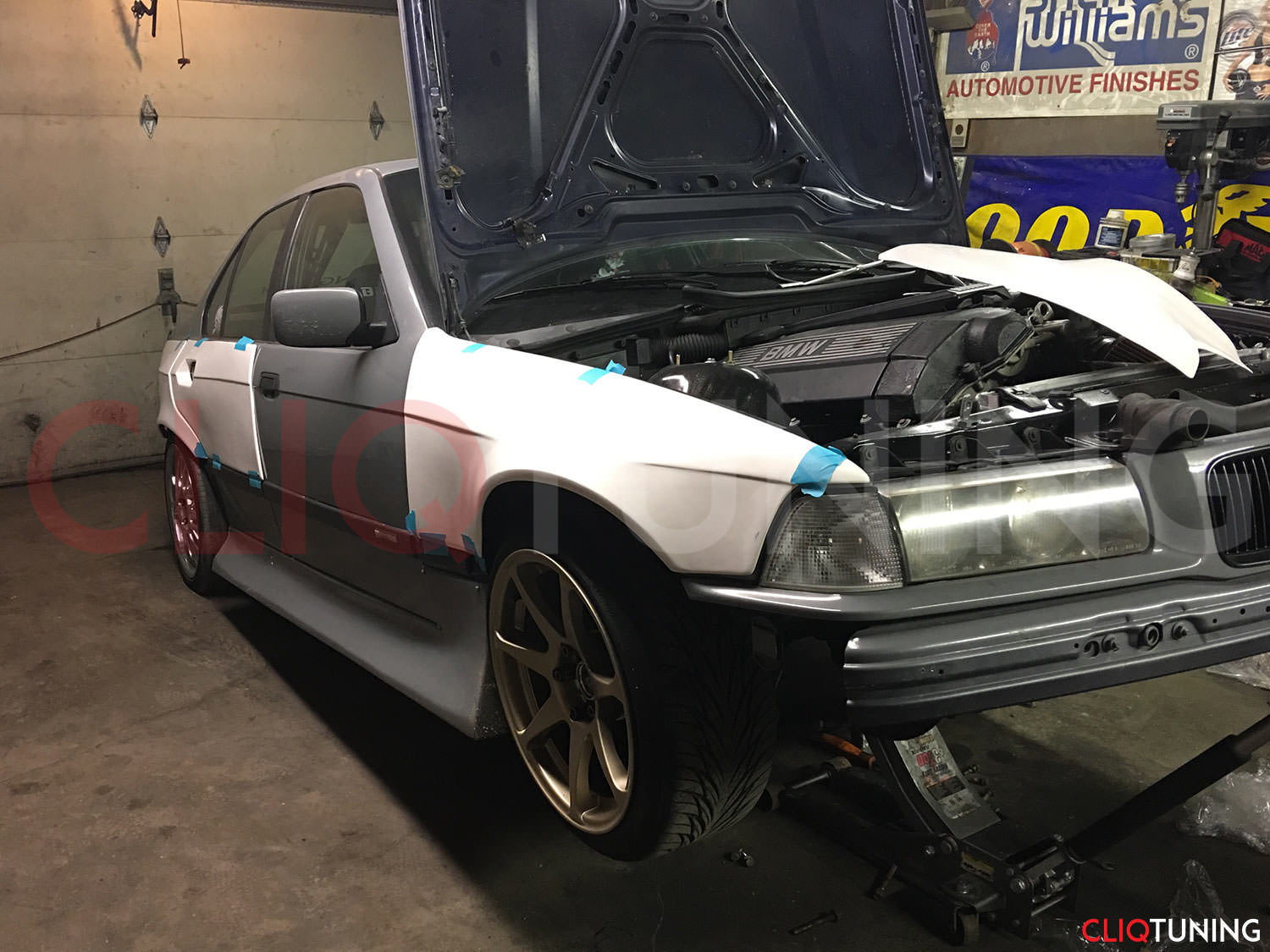 hight resolution of bmw e36 sedan overfenders over fenders wide body 50mm 40mm for drift track stance low cliqtuning3