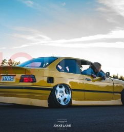 bmw e36 coupe aero kit jap bn style bumper lips and side skirts for drifting and [ 1500 x 843 Pixel ]