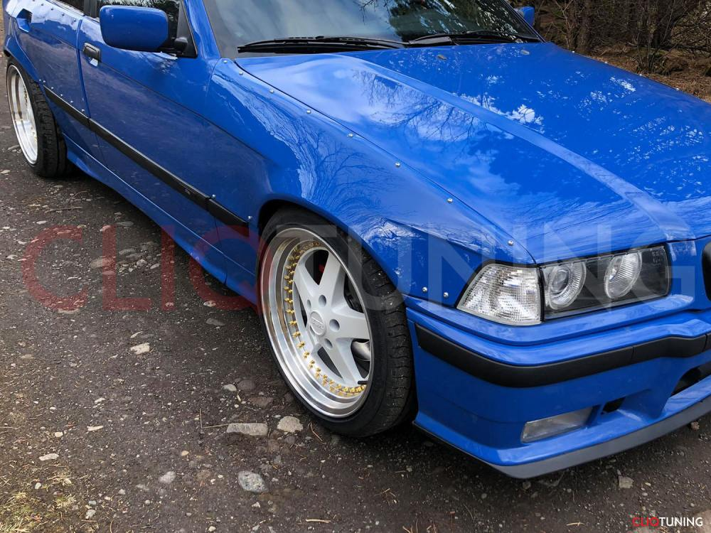 medium resolution of bmw e36 sedan front and rear overfenders over fenders wide body 50mm 40mm for drift track