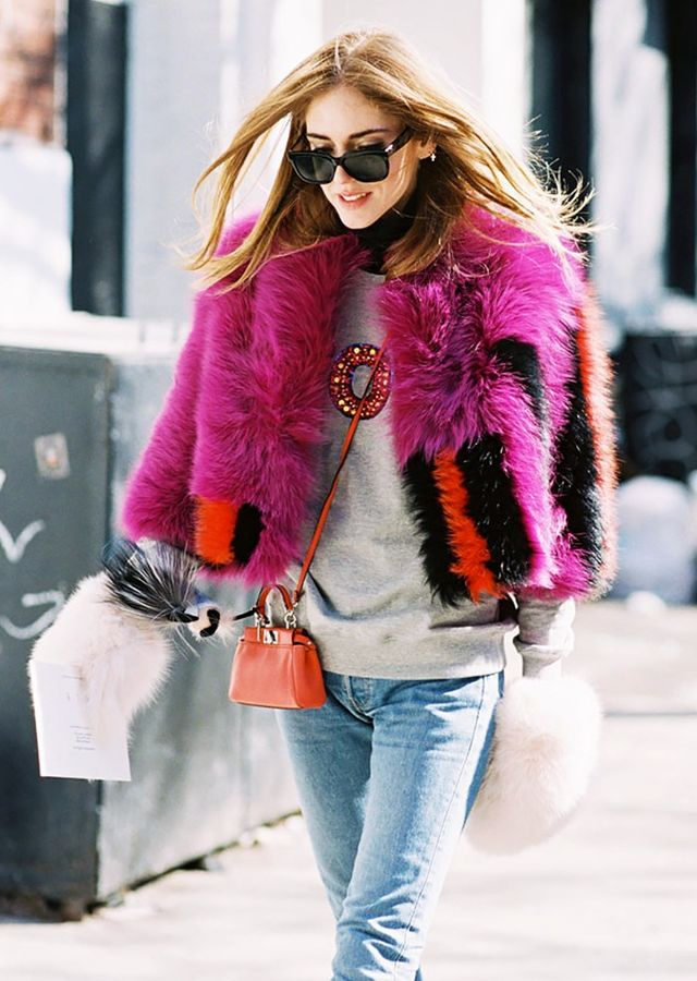 Bright faux-fur