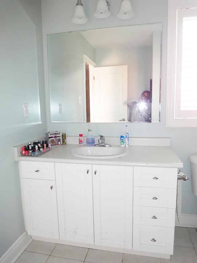 Antes y después de un baño glam