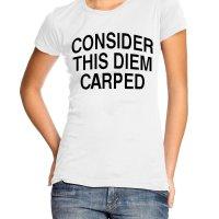 Consider this diem carped t-shirt by Clique Wear