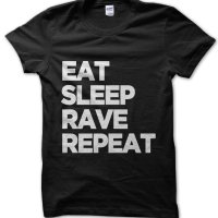 Eat Sleep Rave Repeat t-shirt by Clique Wear