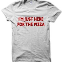 I'm just here for the pizza t-shirt by Clique Wear