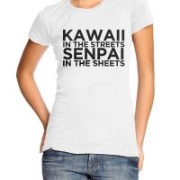 Kawaii In the Streets Senpai in the Sheets t-shirt by Clique Wear