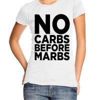 No carbs before marbs t-shirt by Clique Wear