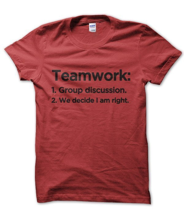 Teamwork: Group Discussion, boss manager t-shirt by Clique Wear