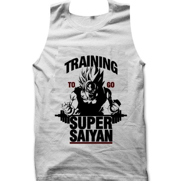 Training to go Super Saiyan Gym Dragon Ball Z tank top / vest by Clique Wear