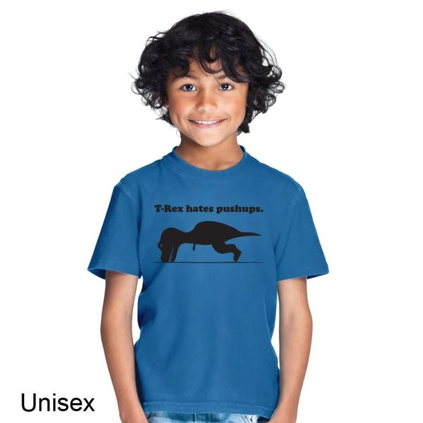 T-Rex hates pushups t-shirt by Clique Wear