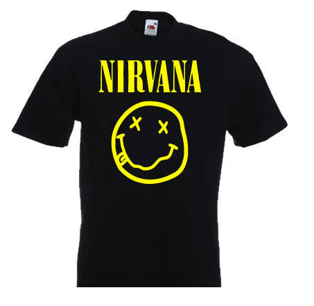 Nirvana rock band grunge Kurt Cobain t-shirt by Clique Wear