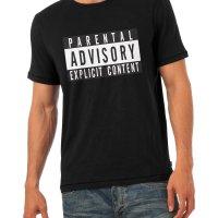 Parental Advisory Explicit Content t-shirt by Clique Wear