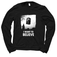Tardis I Want to Believe jumper by Clique Wear