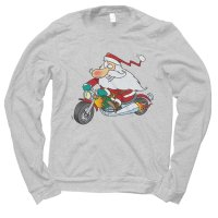 Santa Biker Christmas jumper by Clique Wear
