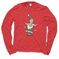 Santa Plaid Christmas jumper by Clique Wear