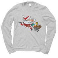 Santa Shopping Christmas jumper by Clique Wear