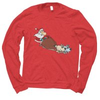 Santa Sleigh Christmas jumper by Clique Wear