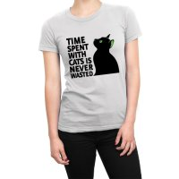 Time Spent With Cats Is Never Wasted t-shirt by Clique Wear