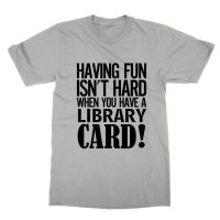 Having fun isn't hard when you have a library card t-shirt by Clique Wear