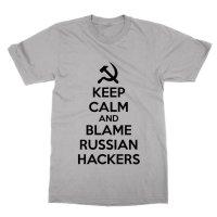 Keep Calm and Blame Russian Hackers t-shirt by Clique Wear