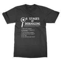 Six Stages of Debugging t-shirt by Clique Wear