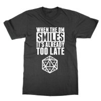 When the DM Smiles It's Already Too Late t-shirt by Clique Wear