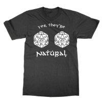 Yes They're Natural t-shirt by Clique Wear