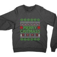 Merry Critmass Christmas jumper Sweatshirt by Clique Wear