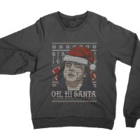 Oh Hi Santa Christmas Jumper Sweatshirt by Clique Wear