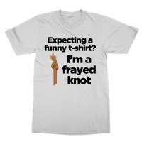 Expecting a funny t-shirt I'm a frayed knot t-shirt by Clique Wear