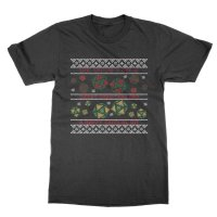 We Wish You a Merry Christmas and a Happy Critical Hit t-shirt by Clique Wear