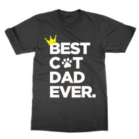 Best Cat Dad Ever Crown t-shirt by Clique Wear
