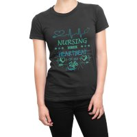 Nursing is the Heartbeat of my Life t-shirt by Clique Wear
