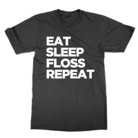 Eat Sleep Floss Repeat t-shirt by Clique Wear