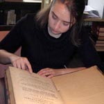 Goucher College Student works in Special Collections