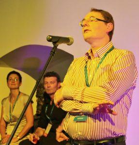 Peter Gardner announcing plans for an International Society