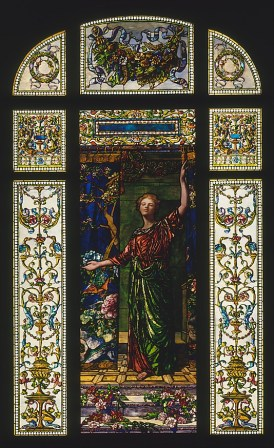 Welcome: Stained Glass Window from the Mrs. George T. Bliss House, New York