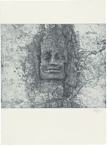 Face above the west gate of Angkor Thom 1999