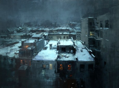 Rooftops in the Snow
