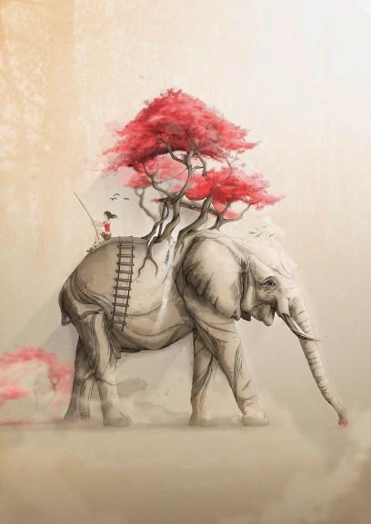 Elephant elefante Revenge Nature Rafapasta