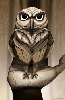Owl illustration Rafapasta forest