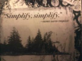 Close up of Henry David Thoreau quote