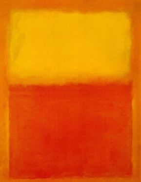 Mark Rothko's Orange and Yellow, oils on canvas, 1955
