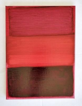 "Studio exercise Mark Rothko, oils on 10 x 14"" canvas, Carla Bange, 2017"
