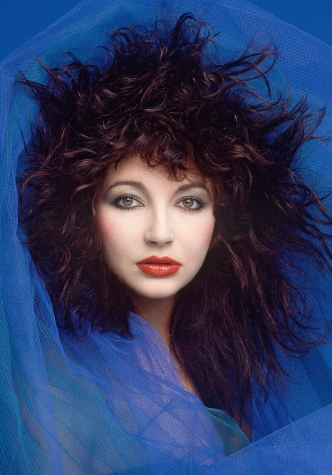 Kate Bush In Blue A5 Greetings Card - 5060634320016-Front