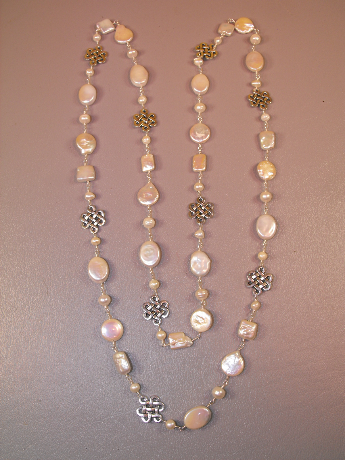 B Amp B Freshwater Pearl Basketweave Necklace Clive S